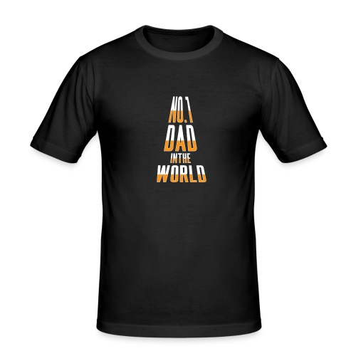 No. 1 Dad in the World - Men's Slim Fit T-Shirt