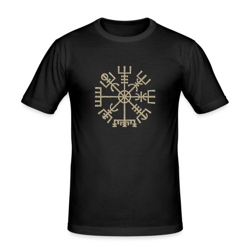 Vegvisir-The-Runic-Viking or - T-shirt près du corps Homme
