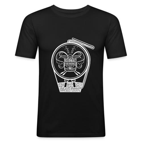 Global Feuerwerk Pyro Shell - Männer Slim Fit T-Shirt