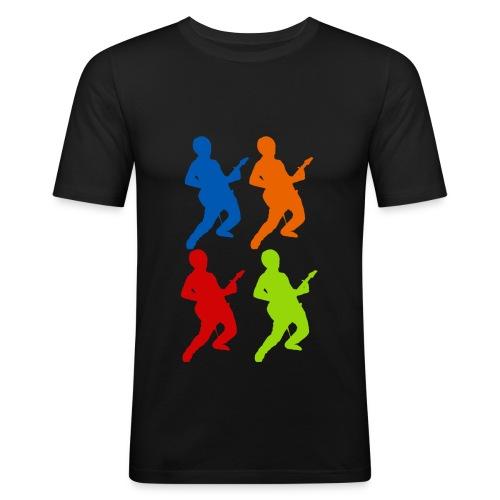guitarguy x4 gross - Männer Slim Fit T-Shirt