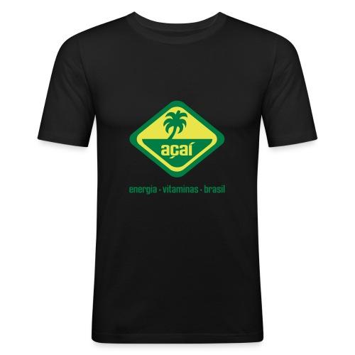 acai_logo - Männer Slim Fit T-Shirt