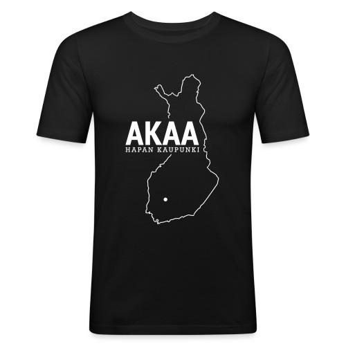 Kotiseutupaita - Akaa - Miesten tyköistuva t-paita
