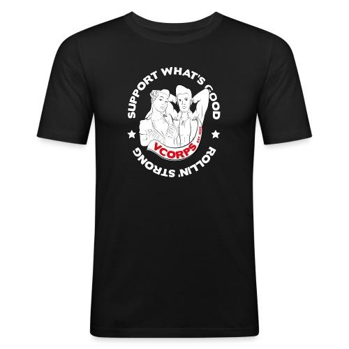 Support-Whatsgood-Black - Men's Slim Fit T-Shirt