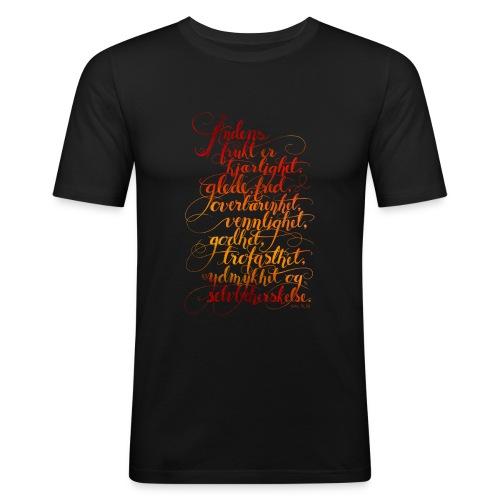 Åndens frukt - Slim Fit T-skjorte for menn