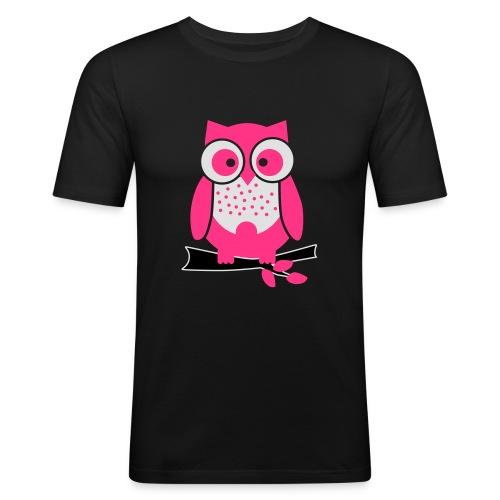 uiltje_rose - Mannen slim fit T-shirt