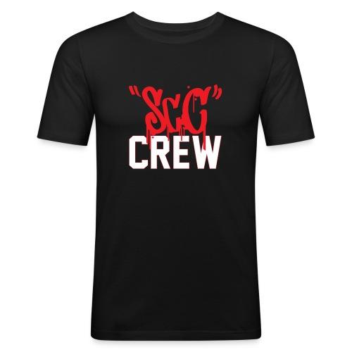 ScC CREW Logo Rood - Mannen slim fit T-shirt