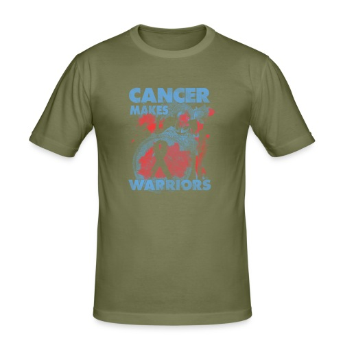 cancer makes warriors - Men's Slim Fit T-Shirt