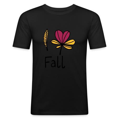 Fall in love - Männer Slim Fit T-Shirt