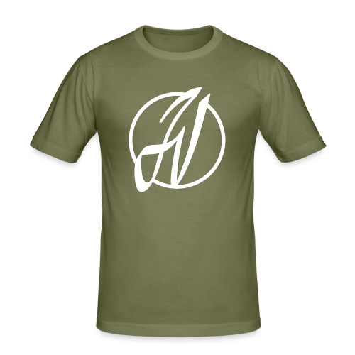 JV Guitars - logo blanc - T-shirt près du corps Homme