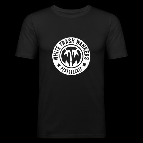 White Trash Wankers Pervotronic-Logo - Männer Slim Fit T-Shirt