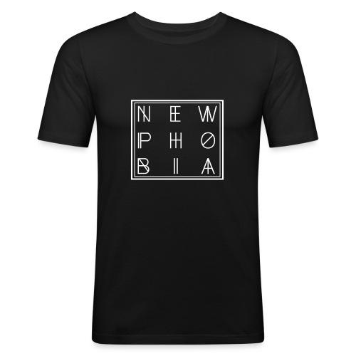 NEWPHOBIA LOGO - Herre Slim Fit T-Shirt