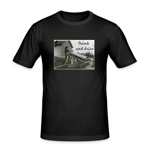 drink and drive - Slim Fit T-shirt herr