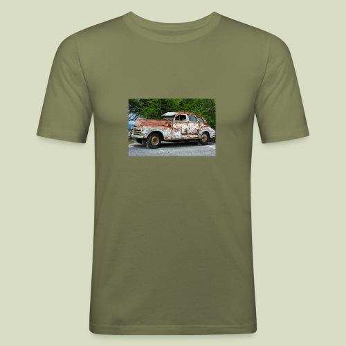 RustyCar - Miesten tyköistuva t-paita