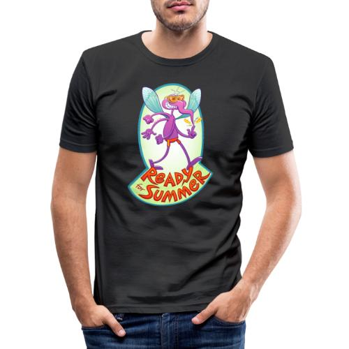 Mischievous mosquito ready to bite you in summer - Men's Slim Fit T-Shirt
