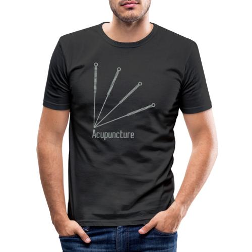 Acupuncture Eventail vect - T-shirt près du corps Homme