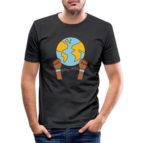 Breek je kettingen - Mannen slim fit T-shirt