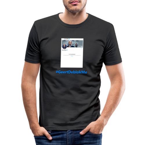 #GeertDeblokMe - Mannen slim fit T-shirt