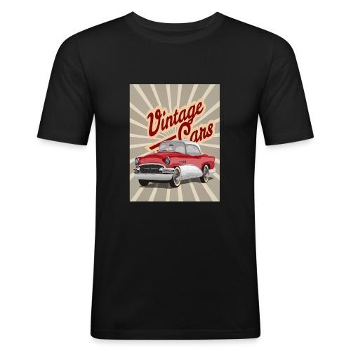 Vintage O - Männer Slim Fit T-Shirt