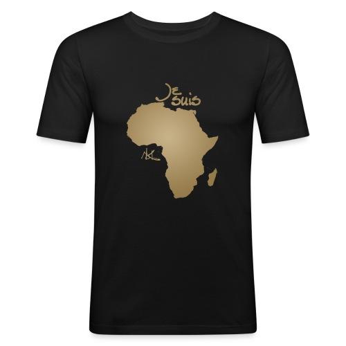 Je suis Afrique / Je suis Aklaaa - T-shirt près du corps Homme