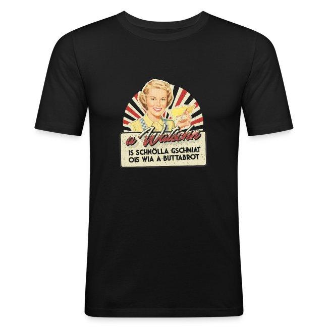 Vorschau: A Watschn is schnö gschmiat - Männer Slim Fit T-Shirt