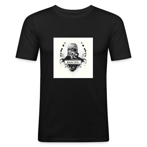KOLMAS GETO LOGO VALMIS ISO RESOLUUTIO - Miesten tyköistuva t-paita