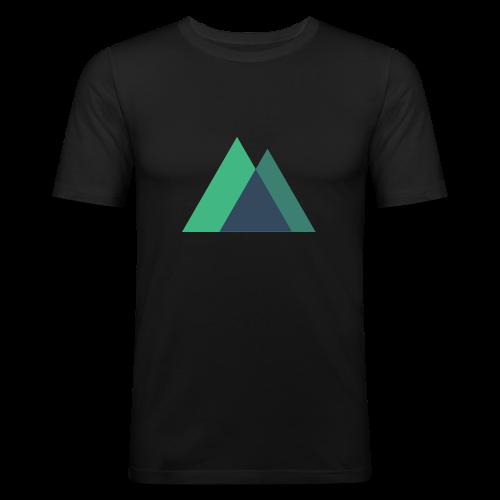 Mountain Logo - Men's Slim Fit T-Shirt