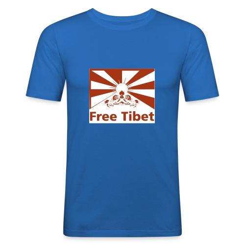 flag red free - Männer Slim Fit T-Shirt
