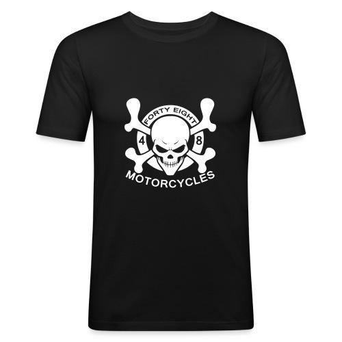 48 Motorcycles skull - T-shirt près du corps Homme