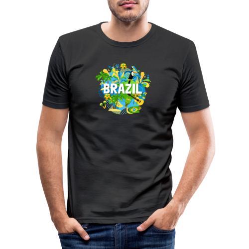 Encontro Brasil - Men's Slim Fit T-Shirt