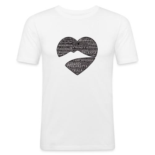 cuordinapoli black - Maglietta aderente da uomo