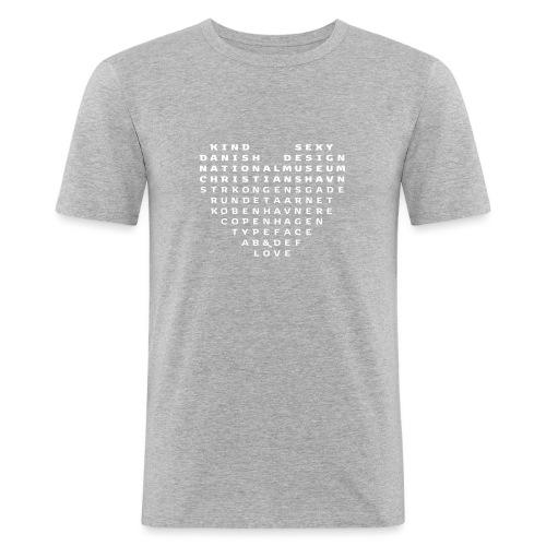 Copenhagen Heart - Herre Slim Fit T-Shirt