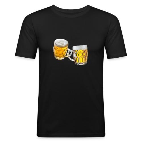 Boccali di birra - Maglietta aderente da uomo