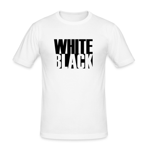 White, Black T-shirt - Mannen slim fit T-shirt