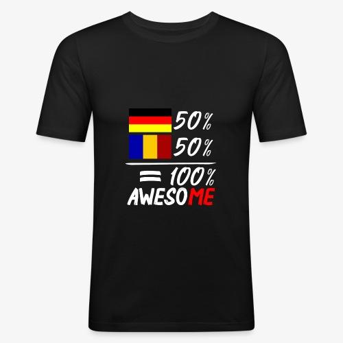 50% Deutsch 50% Rumänisch - Männer Slim Fit T-Shirt