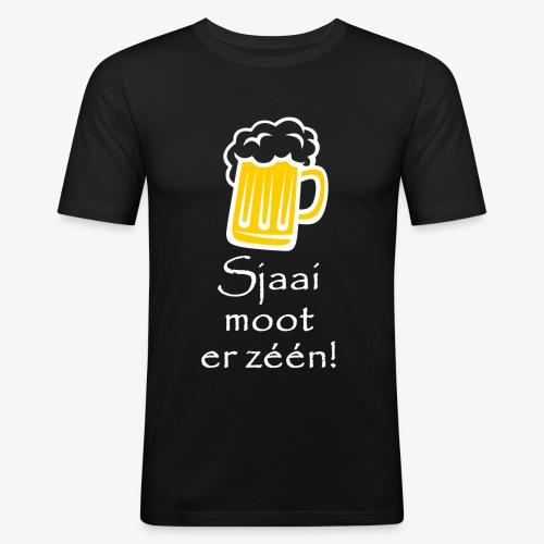 Sjaai moot er zéén - Mannen slim fit T-shirt