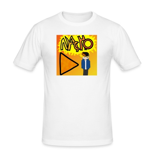 Nacho Title with Little guy - Men's Slim Fit T-Shirt