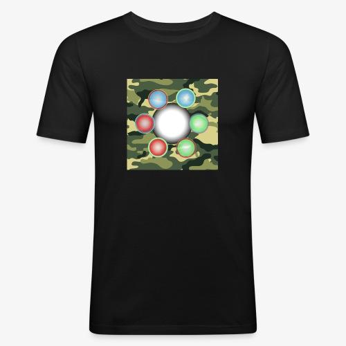Singularité Box Logo Camo Vert - T-shirt près du corps Homme