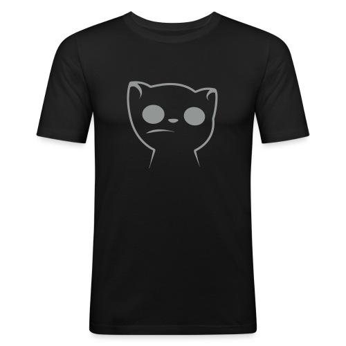 Hypnocat Weiss - Frauen - Männer Slim Fit T-Shirt