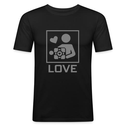 SPREADSHIRT_PORTAL_CUBE_LOVE - Maglietta aderente da uomo