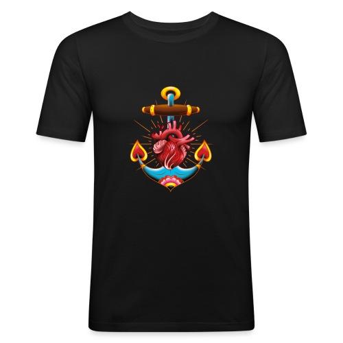 Sailor's Heart - Tattoo design - T-shirt près du corps Homme