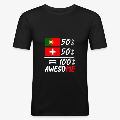 50% Portugal 50% Schweiz - Männer Slim Fit T-Shirt