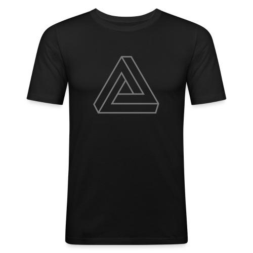 Penrose Dreieck Unmögliche Figur, Illusion, Escher - Männer Slim Fit T-Shirt