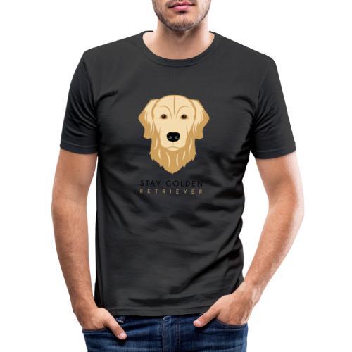 Golden Retriever - Dark - Maglietta aderente da uomo