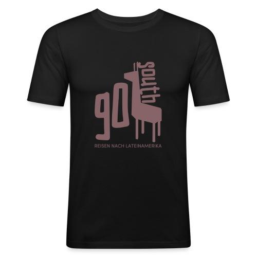 Kopie von GoSouth Logo purple 2 - Männer Slim Fit T-Shirt