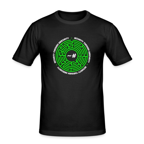 Security Through Obscurity - Men's Slim Fit T-Shirt