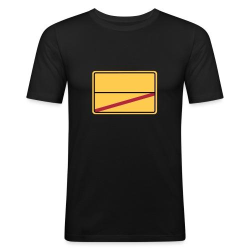 Ortsschild Ende - blanko - Männer Slim Fit T-Shirt