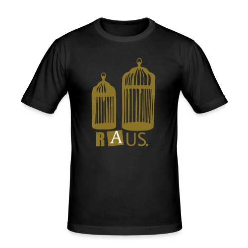 Goldener Käfig - Männer Slim Fit T-Shirt