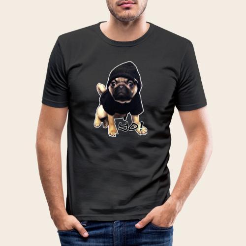 yo_mops_3 - Männer Slim Fit T-Shirt