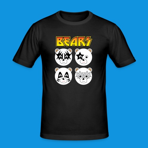 Kiss Bears square.png - Men's Slim Fit T-Shirt