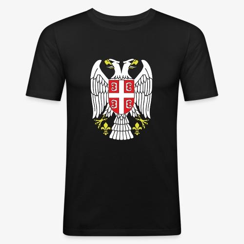 Serbien Adler - Männer Slim Fit T-Shirt